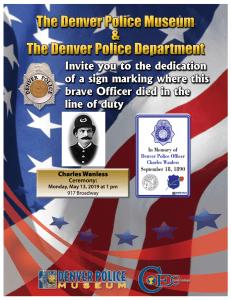 Fallen Officer Sign Ceremony Honoring Police Officer Charles Wanless