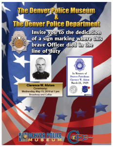 Fallen Officer Sign Ceremony Honoring Clarence W. Alston