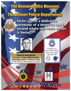 Dedication Ceremony for Alson E. McCasland @ Crown Hill Cemetery