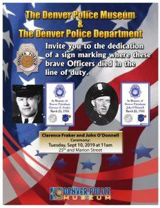 Fallen Officer Sign Ceremony Honoring Clarence Fraker and John O'Donnell